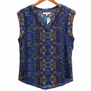 41 Hawthorn Womans Carla Crochet Detail Blouse NWT